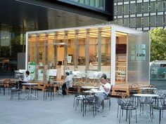 Image result for tiny shipping container cafe