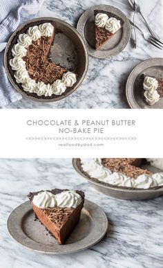 This Chocolate and Peanut Butter Pie from @realfoodbydad looks pretty awesome...