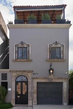 Classic House Exterior, House Construction Plan, Mexico House, Spanish Style Homes, Indian Homes, Facade House, House In The Woods, House Colors, My Dream Home