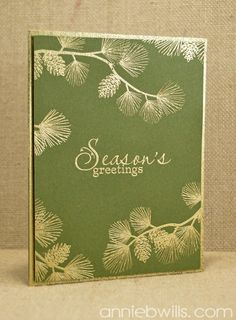Gold Embossed Pines Card by Annie Williams - Main