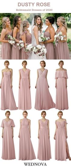 Dusty Rose chiffon bridesmaid dresses for all spring 2020 #wedding #weddings #bride #brides #bridesmaid #bridesmaids #bridesmaiddress #bridesmaiddresses #chiffonbridesmaiddress #longbridesmaiddress #pinkbridesmaiddress