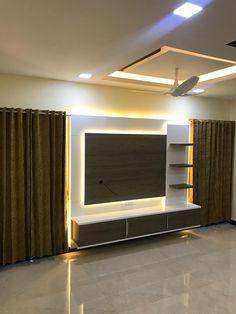Living Room Partition Design, Ceiling Design Living Room, Bedroom False Ceiling Design, Tv Wall Design, Room Design Bedroom, Home Room Design, Tv Unit Furniture Design, Tv Unit Interior Design, Interior Ceiling Design