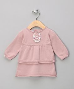 Take a look at this Miski Wawa Rose Pink Knit Bib Dress - Infant by Miski Wawa on #zulily today!