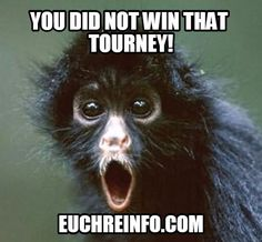 You did not win that Euchre tourney!