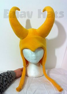 Hey, I found this really awesome Etsy listing at https://www.etsy.com/listing/128027299/loki-yellow-horns-hat