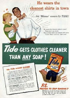 Vintage advertising and other cool retro stuff - found in my mother's basement, flea markets and various corners of the Internet - dusted off and displayed for your pleasure by Paula Zargaj-Reynolds. 1950s Advertising, 1950s Ads, Old Advertisements, Retro Ads, Soap Advertisement, Vintage Signs, Vintage Ads, Vintage Posters, Vintage Wife
