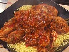 Le creuset Chicken Cacciatore with Spaghetti