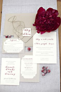 Fall Stationery Ideas , Wedding Invitations Photos by Hitched by Heather