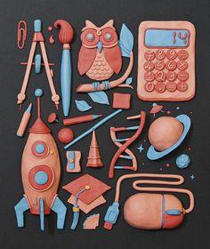 Plasticine works 2012 by Andrea Manzati, via Behance