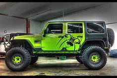Gecko Green Jeep