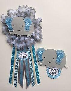 Baby-shower-corsage-elephant-theme-blue-and-gray-elephant-2-pcs-ready-to-use
