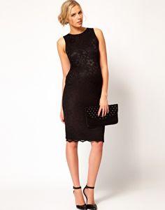 Enlarge ASOS Maternity Midi Dress In Lace