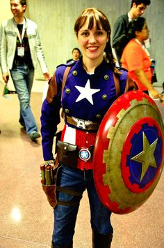 steampunk female Captain America