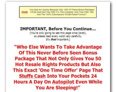 Internet business based on resell rights is actually the ideal work-at-home business opportunity.