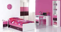 Trendy kids bedroom design for 2012 is usually started by combining bright colors and funny patterns. Generally trendy kids bedroom design for 2012 is focus on Pink Bedroom Design, Pink Bedroom For Girls, Pink Bedrooms, Modern Bedroom Design, Modern Bedrooms, Home Bedroom, Bedroom Decor, Bedroom Ideas, Wall Decor