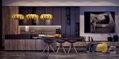 seductive-kitchen-hanging-pumpkin-lights-abstract-art-piece-wooden-cabinetry.jpg (1200×600)