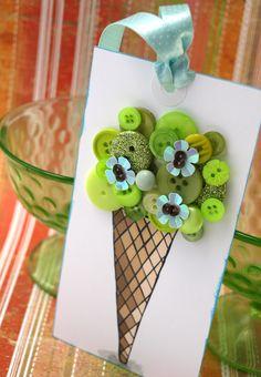 button ice cream cone