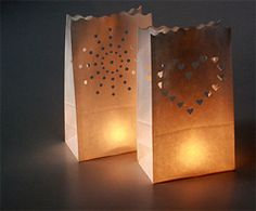 DIY  Creating Paper Bag Luminarias - for our exit
