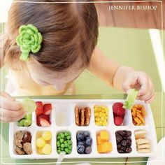 Ice cream tray buffet for little ones and picky eaters