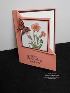 Corner Fold Card Linda Bauwin - CARD-iologist Helping you create cards from the heart.: