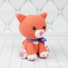 Mesmerizing Crochet an Amigurumi Rabbit Ideas. Lovely Crochet an Amigurumi Rabbit Ideas. Crochet Cat Pattern, Crochet Animal Patterns, Stuffed Animal Patterns, Crochet Patterns Amigurumi, Cute Crochet, Amigurumi Doll, Free Pattern, Crochet Cats, Easy Crochet