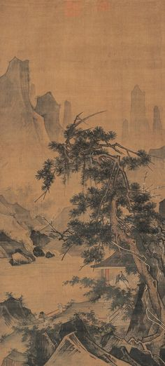 Ma Yuan- in a pavillon under the three friends of winter