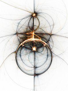 Shooting star - Creative Fractals by Eli Vokounova