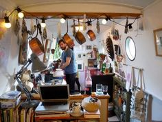 Real homes: a central London houseboat, frugally styled