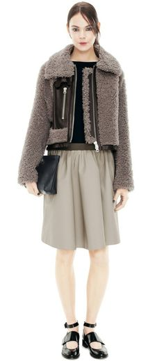 :: acne studios vera reverse shearling jacket