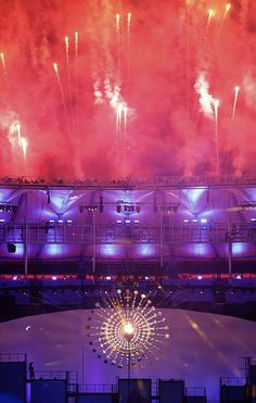 #RIO2016 cauldron at the Rio de Janeiro Olympic Games that gives the impression of a sun The opening ceremony was held the same day...