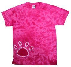 Tie Dye T Shirts New Paw Print Pink Colors Variation Size Youth XS to Adult 3XL #HanesGildan #TShirt