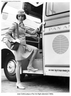 Joan Collins plays a Pan Am Flight Attendant, 1960's / Photo Credit to the Pan Am Historical Foundation at http://www.panam.org/