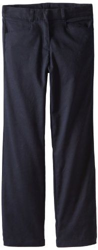 Nautica Big Girls Uniform Stretch Twill Bootcut Pant Su Navy 8 >>> Want additional info? Click on the image. #GirlsDressUp
