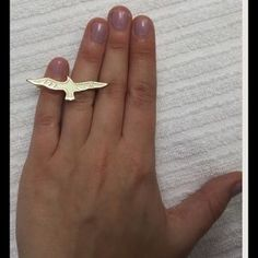 I just discovered this while shopping on Poshmark: Gold Eagle Ring. Check it out! Price: $10 Size: OS