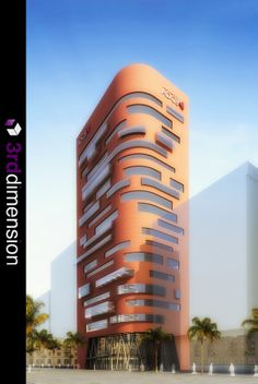 Central Bank Building - Architectural Rendering, Proposed Commercial Development, Abu Dhabi, UAE