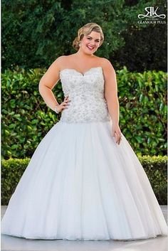 Ginger, Roz La Kelin Glamour Plus Collection | 31 Jaw-Dropping Plus-Size Wedding Dresses