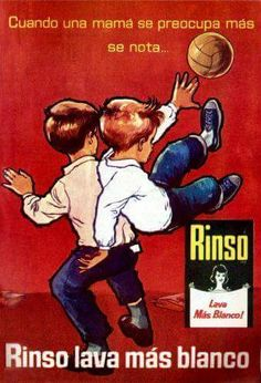 """Rinso Detergent - """"When a mother cares it is noticeable. Vintage Advertisements, Vintage Ads, Vintage Posters, Childhood Games, Family Humor, Magazine Ads, Cool Posters, Nostalgia, Advertising"""