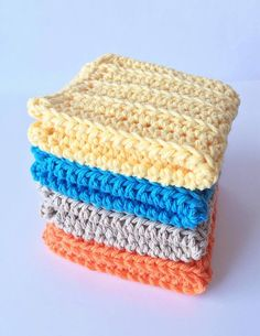 Cotton Crochet wash cloths  crocheted wash cloths  by HandMadeByDz