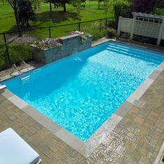 Rectangle pool on pinterest pools pool designs and for Comparatif piscine coque ou beton