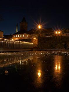 Noční Plzeň, night Pilsen Night