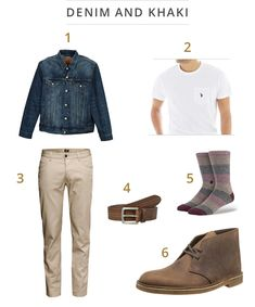 John Legend spends many hours in the studio, and he manages to stay loose with this relaxed outfit. You can get the same look, starting with a Levi's trucker jacket, a white Polo crewneck tee, and khaki chinos from H&M. Get comfy while on your feet with these Stance socks and Clarks desert boots. You may not sing like John Legend, but at least you can look like a legend!