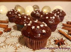 Piernikowe babeczki czekoladowe - przepis ze Smaker.pl Mini Cupcakes, Breakfast, Food, Morning Coffee, Essen, Meals, Yemek, Eten