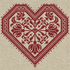 The Flowering Heart - Romantic Cross-Stitch Pattern 4 page Instant Download PDF booklet on Etsy, $5.50