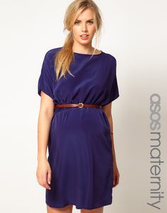 ASOS Maternity | ASOS Maternity Exclusive Woven Dress With Belt at ASOS