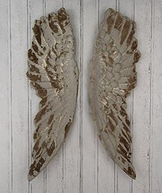 Pacific Lifestyle Poly Resin Angel Wings Wall Art, Distressed Grey, 210 x 1130 x 470 mm Wooden Angel Wings, Angel Wings Wall Art, Wedding Gift Inspiration, Gothic Angel, Gold Walls, Grey And Gold, Inspirational Gifts, Beautiful Interiors, Art Decor