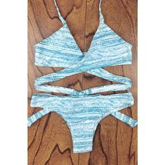 Oshlen Flower Cross Bikini Set