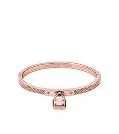 Pavé PadLock Rose Gold-Tone Bracelet by Michael Kors