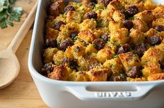 Spicy Jalapeno and Cheddar Cornbread Stuffing with Sausage