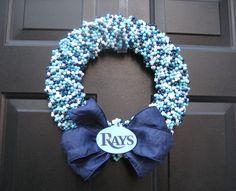 Tampa Bay Rays Beaded Wreath Custom Any by APinkLemonadeDesigns