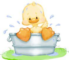 So cute. a duck taking a bath. great idea for the kids towel